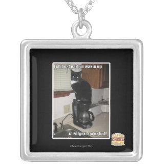 the best part uv wakin up silver plated necklace