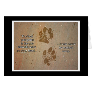 The Best Paw Print Animal Notecards Card
