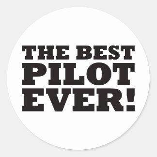 The Best Pilot Ever Classic Round Sticker