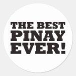 The Best Pinay Ever Round Sticker