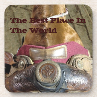 the best place in the world beverage coaster