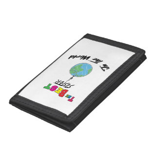 The Best sister in the World, sister Trifold Wallet