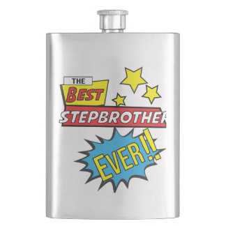 The best stepbrother ever pop art comic book flask