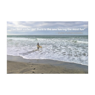 The Best Surfer Out There Poster Canvas Print