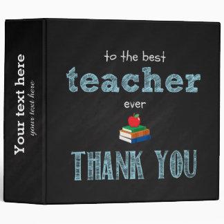 the best teacher, thank you binder