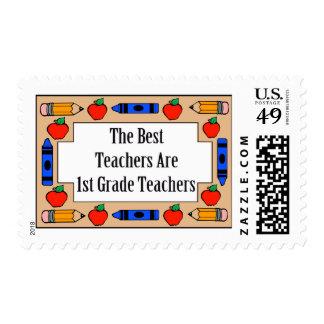 The Best Teachers Are 1st Grade Teachers Postage Stamp