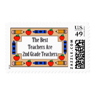 The Best Teachers Are 2nd Grade Teachers Postage Stamps