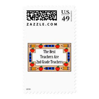 The Best Teachers Are 2nd Grade Teachers Postage