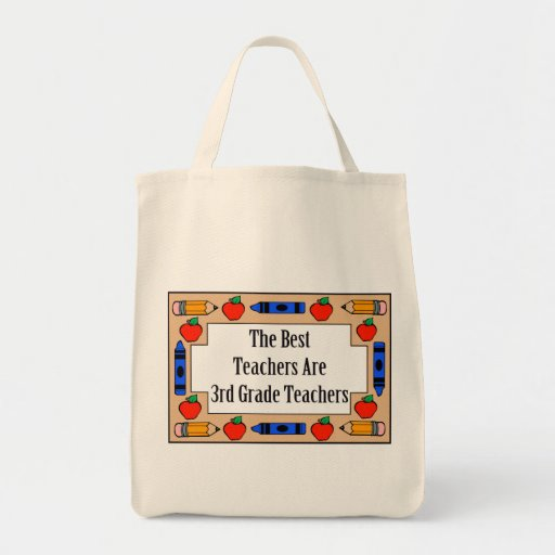 The Best Teachers Are 3rd Grade Teachers Grocery Tote Bag
