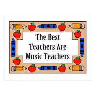 The Best Teachers Are Music Teachers Postcards