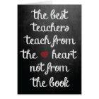 The Best Teachers Card