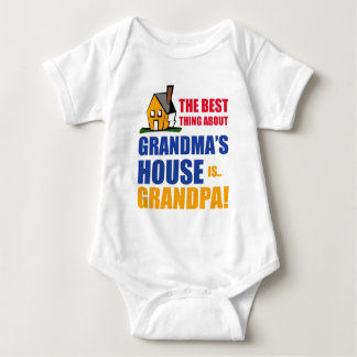 The Best Thing About Grandma's House is Grandpa Baby Bodysuit