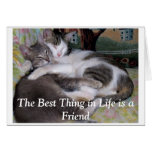 The Best Thing in Life is a Friend. Card