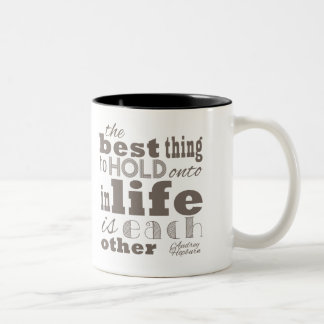 The best thing in life Two-Tone coffee mug