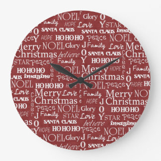 The Best Things About Christmas Last All Year Long Large Clock
