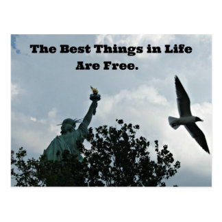 The Best Things in Life Are Free. Postcard