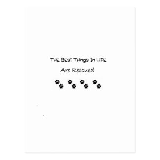 The Best Things In Life Are Rescued Postcard