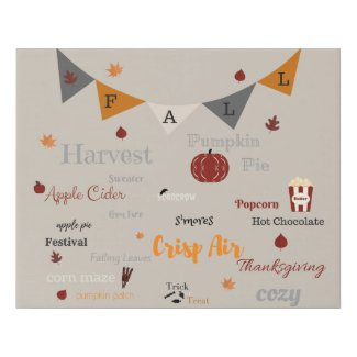 The Best Things Of Fall Faux Canvas Print