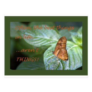 The Best Things Postcard