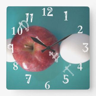 The BEST time to have breakfast & Dinner Diet time Square Wall Clock