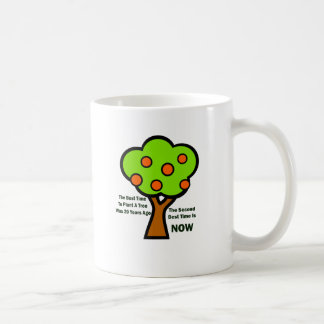 THE BEST TIME TO PLANT TREES COFFEE MUG
