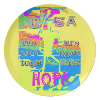 The Best USA Hope  Hillary Stronger Together Plate
