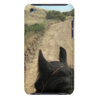 The best view is from the back of a horse iPod touch Case-Mate case