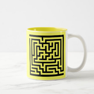 The best way to escape a problem... Two-Tone coffee mug