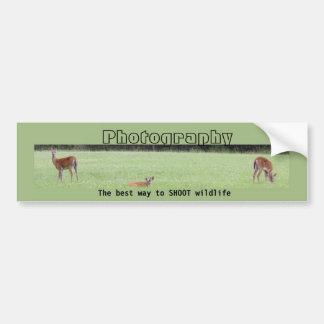 The best way to SHOOT wildlife Bumper Sticker