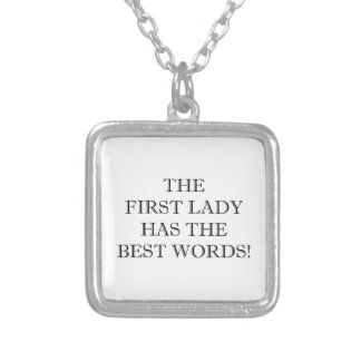 The Best Words Silver Plated Necklace