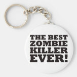 The Best Zombie Killer Ever Keychains