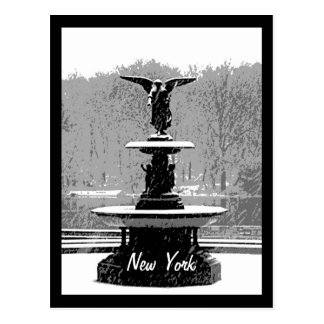 The Bethesda Fountain in Winter Postcard
