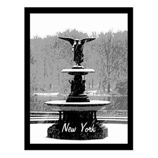 The Bethesda Fountain in Winter Postcard
