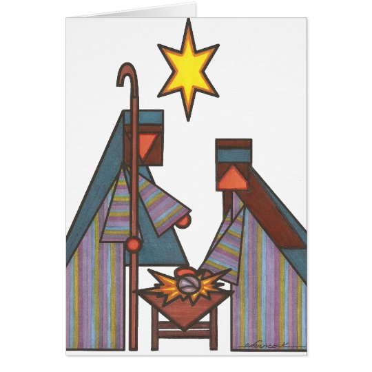 The Bethlehem Star Card