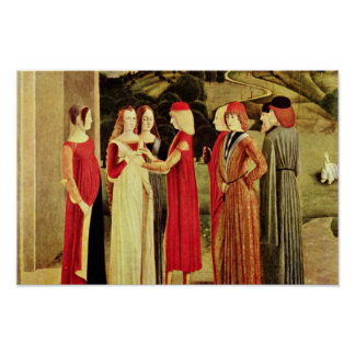 The Betrothal By Italienischer Meister Des 15. Jah Poster