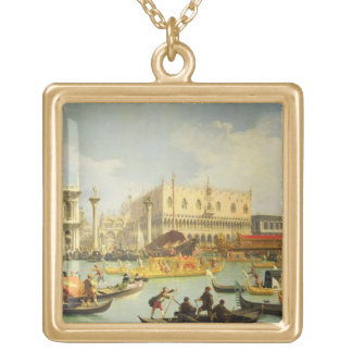 The Betrothal of the Venetian Doge Gold Plated Necklace
