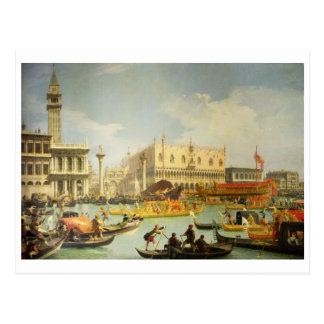 The Betrothal of the Venetian Doge Postcard