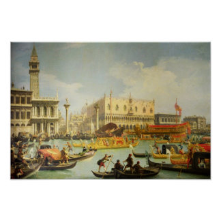 The Betrothal of the Venetian Doge to Adriatic Poster