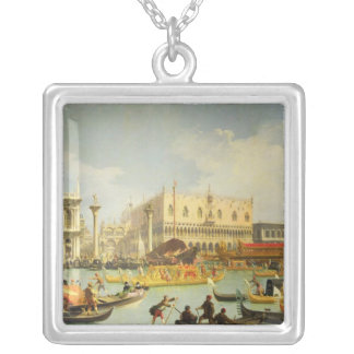 The Betrothal of the Venetian Doge to Adriatic Silver Plated Necklace