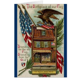 The Betsey Ross House, Eagle & Flag Card