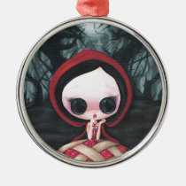 red, ridding, hood, cherry, pie, sweet, sugar, fueled, michael, banks, coallus, wolf, Ornament with custom graphic design