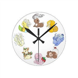 The Beverage Bunnies Wall Clock