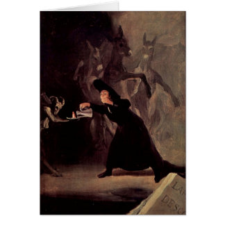 The Bewitched Man by Francisco Goya 1798 Card