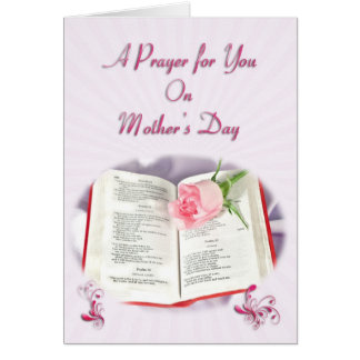 The Bible and rose prayer for Mother's day Cards