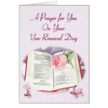 The Bible and rose prayer for vow renewal day Cards