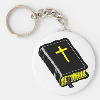 The Bible Basic Round Button Keychain