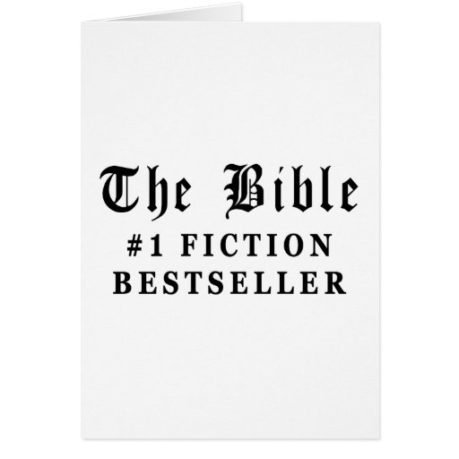 The Bible Fiction Bestseller Greeting Card