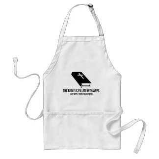 The Bible is Filled with Apps Adult Apron