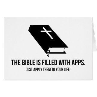 The Bible is Filled with Apps Card