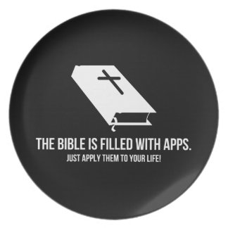 The Bible is Filled with Apps Party Plates